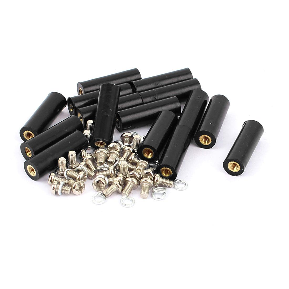 15 Pcs M3 Brass Insert Female Thread 8x25mm Insulated Standoff Terminals