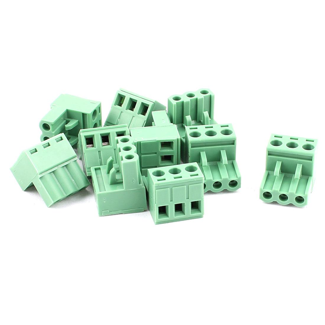 10Pcs KF2EDG 5.08mm Pitch 3 Terminals Pluggable Teminal Blocks Connector Socket