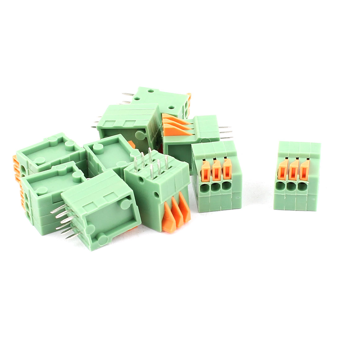 10 Pcs 2.54mm Pitch 2x3 Terminals PCB Spring Type Plug-in Terminal Blocks