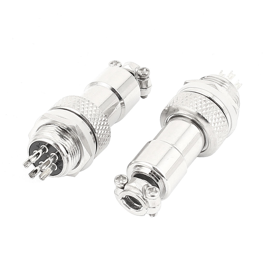 2 Sets Screw Aviation Connector Male Female RS765/M12 12mm 5 Pin