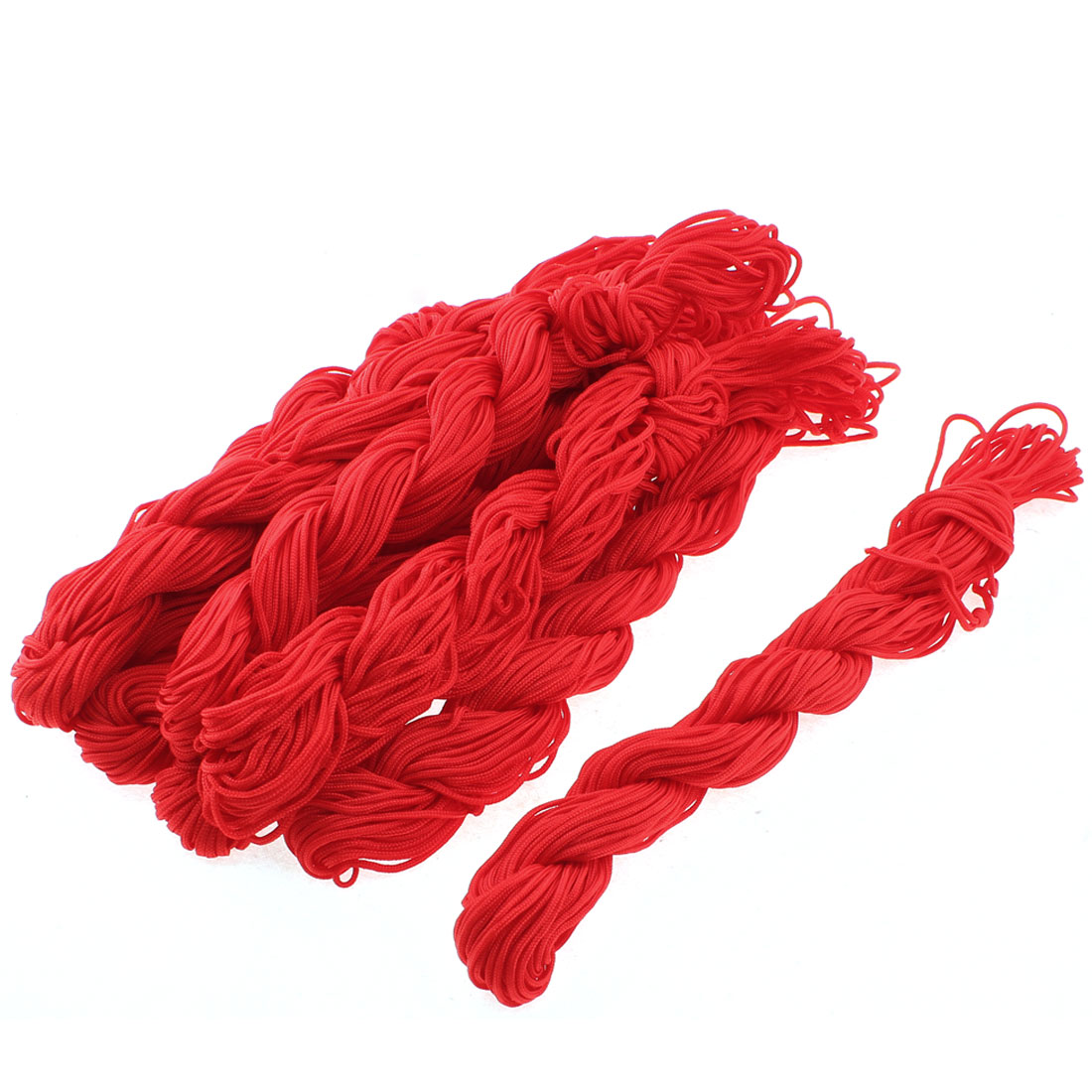 2M Length 2mm Dia Chinese Knotting Bracelet Jewelry Bead Thread String Red 10pcs