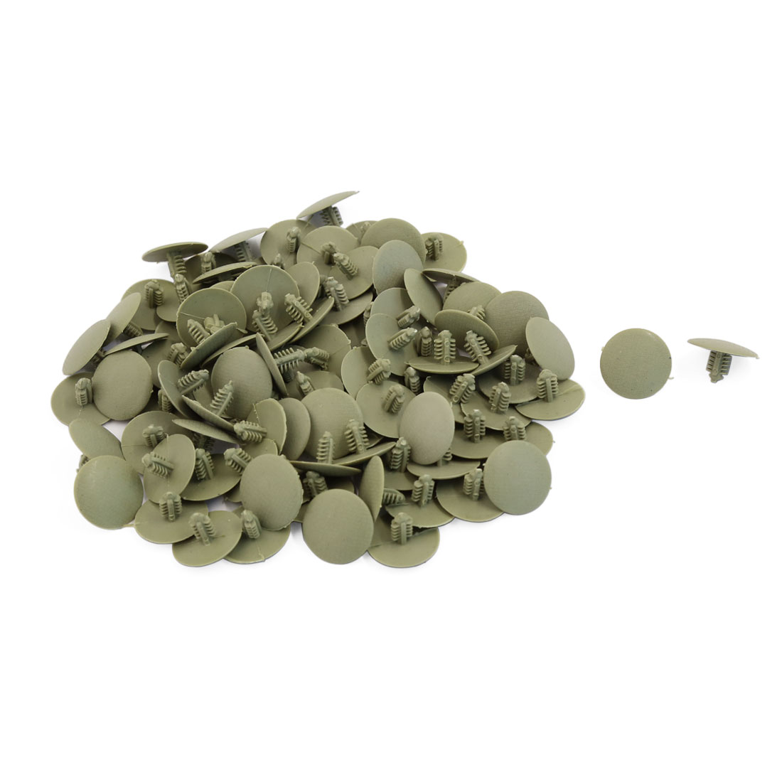 100pcs Beige Plastic Car Door Fender Bumper Push Rivets Fasteners 7mmx10mmx21mm