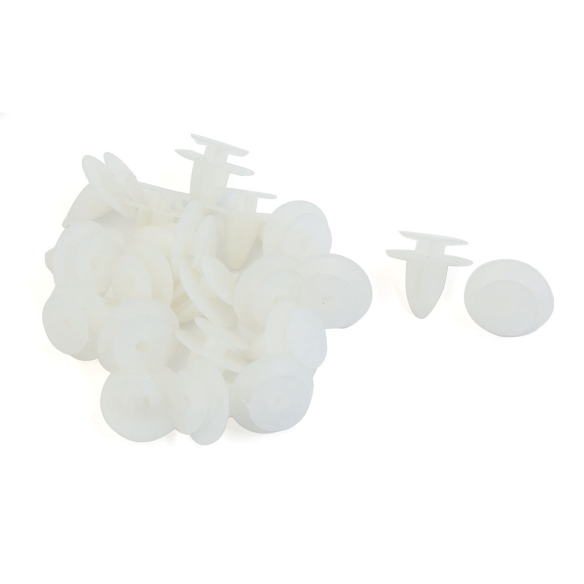 White Car Door Trim Panel Hood Plastic Rivet Fasteners Clips 7mm Hole Dia 20 Pcs