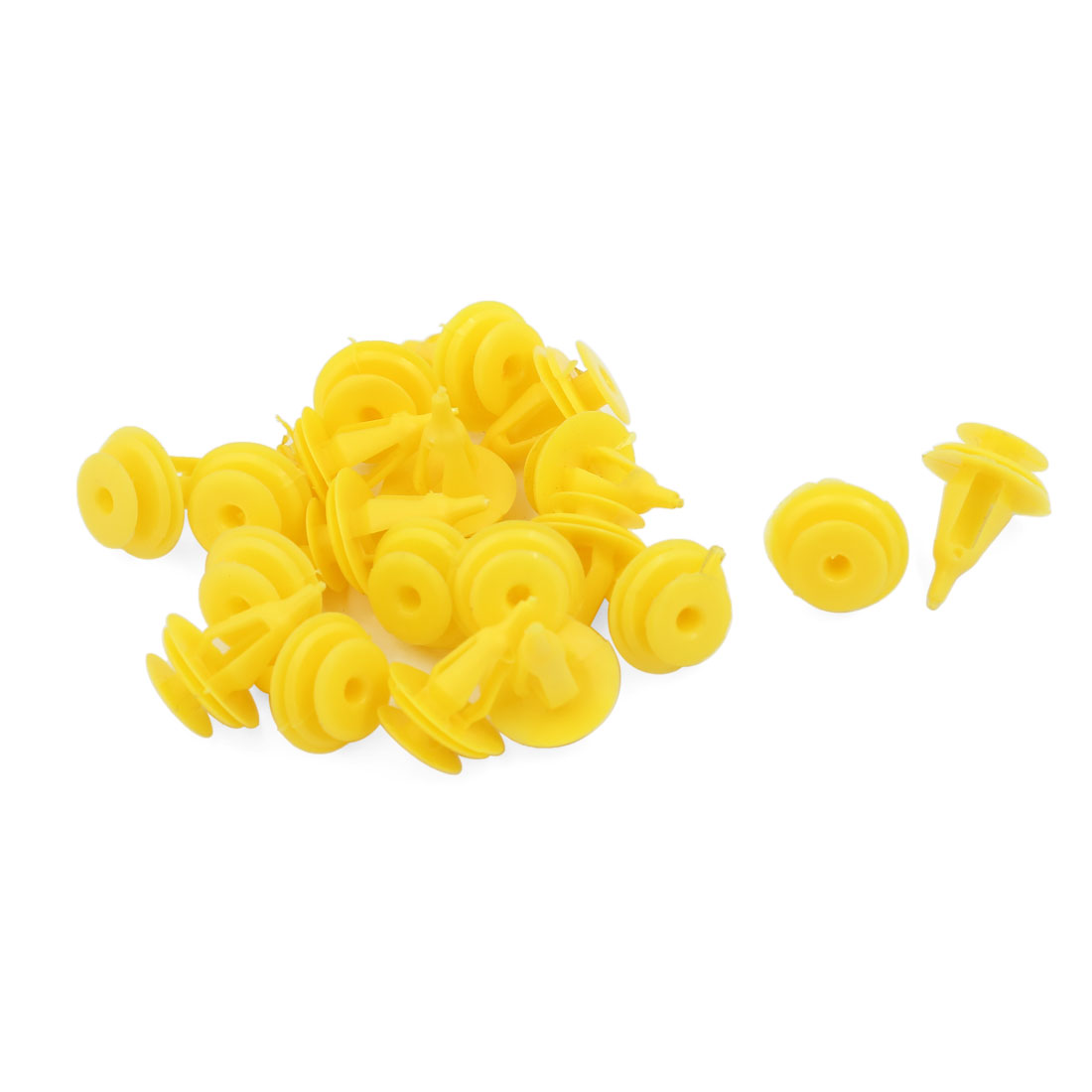 20PCS Yellow Under Engine Splash Guard Rivet Fastener Clips for 9mm Hole