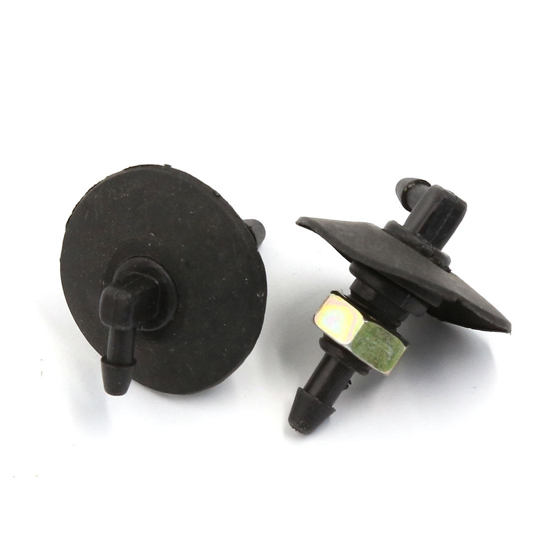 Universal Car Window Wiper Cleaner Sprayer Windshield Washer Nozzle 9mm Pair