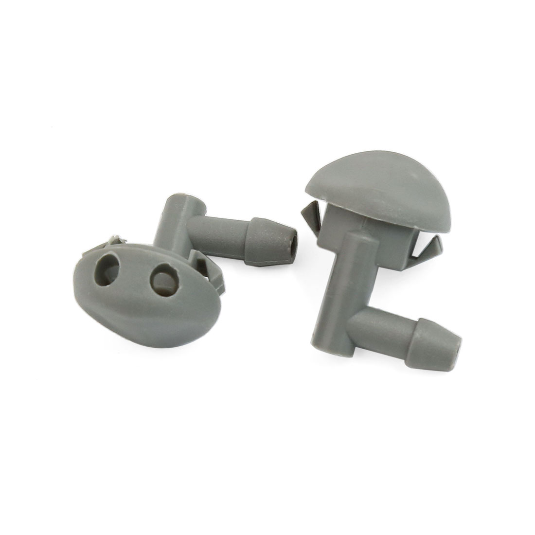 90 Degree Angle Car Windshield Glass Water Spray Washer Nozzle Gray Pair