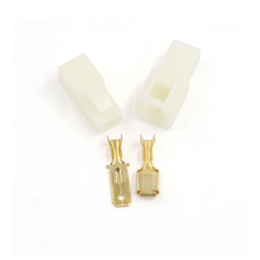5 Sets 6.3mm Beige Automobile Electrical Connectors Male to Female Socket Plugs
