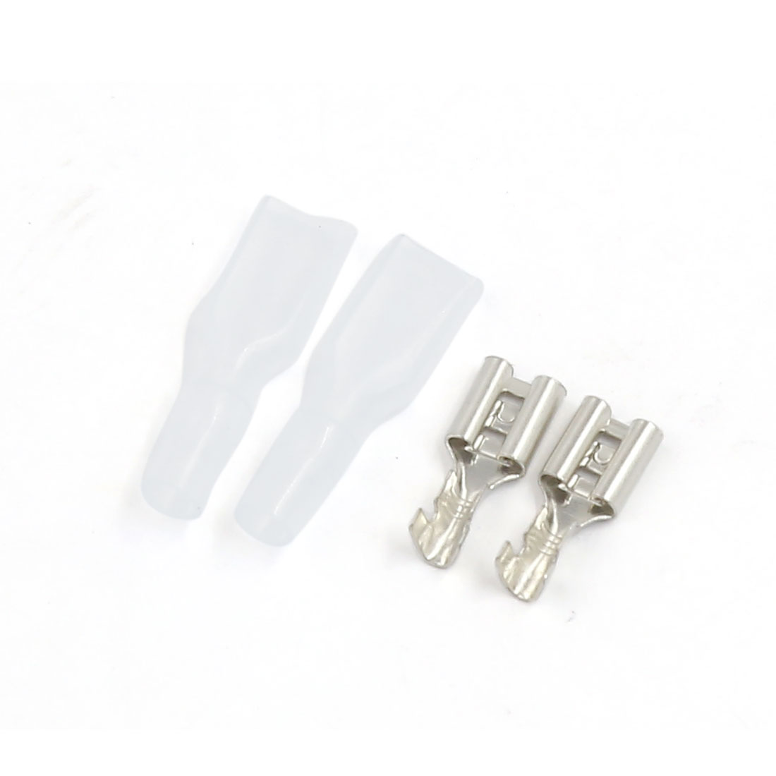 9 Pcs Insert Spring Female Crimp Terminal Connector Insulated Sleeve Cover 4.8mm
