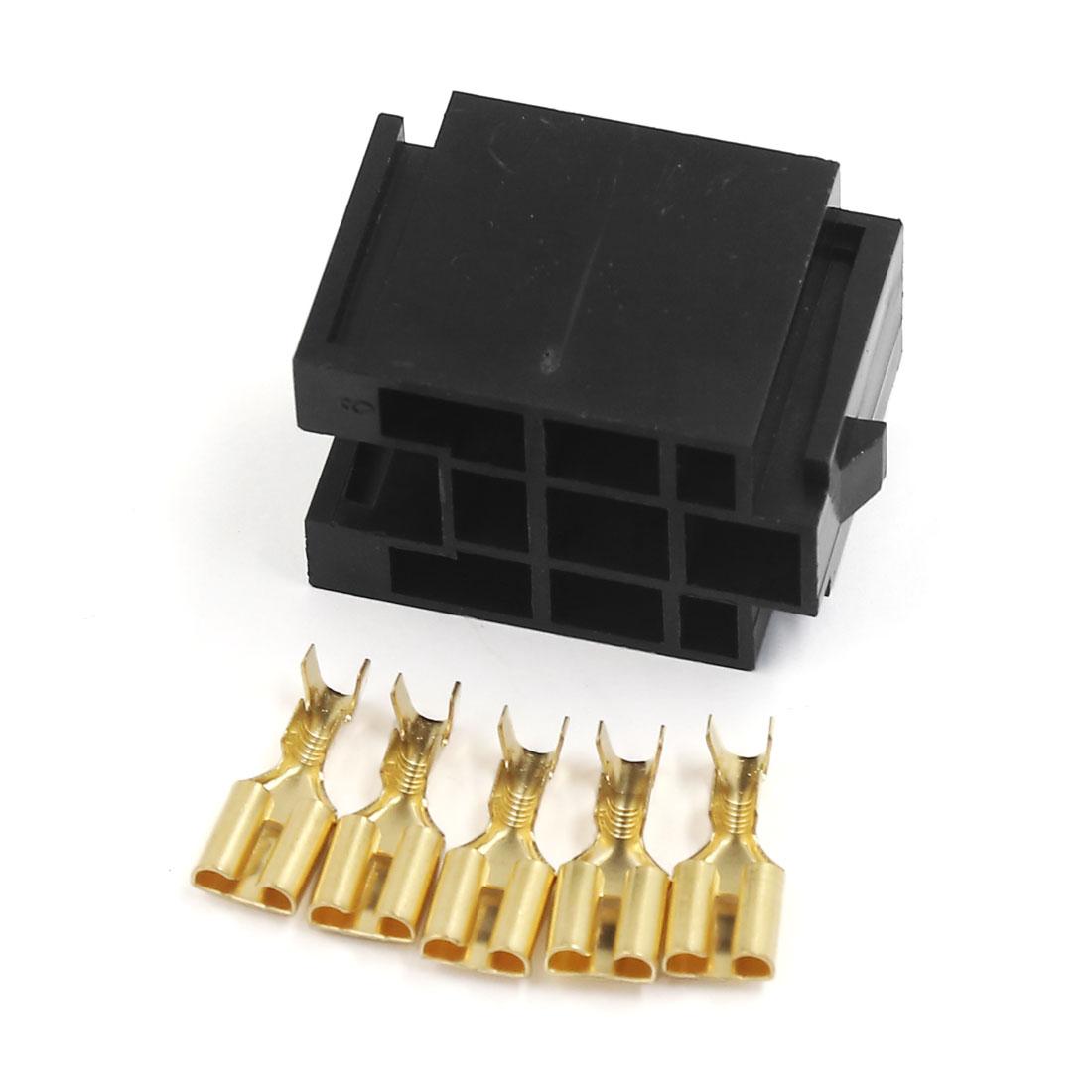 5 Pin Car Truck Relay Socket 12V 30/40Amp 6.3mm Terminal