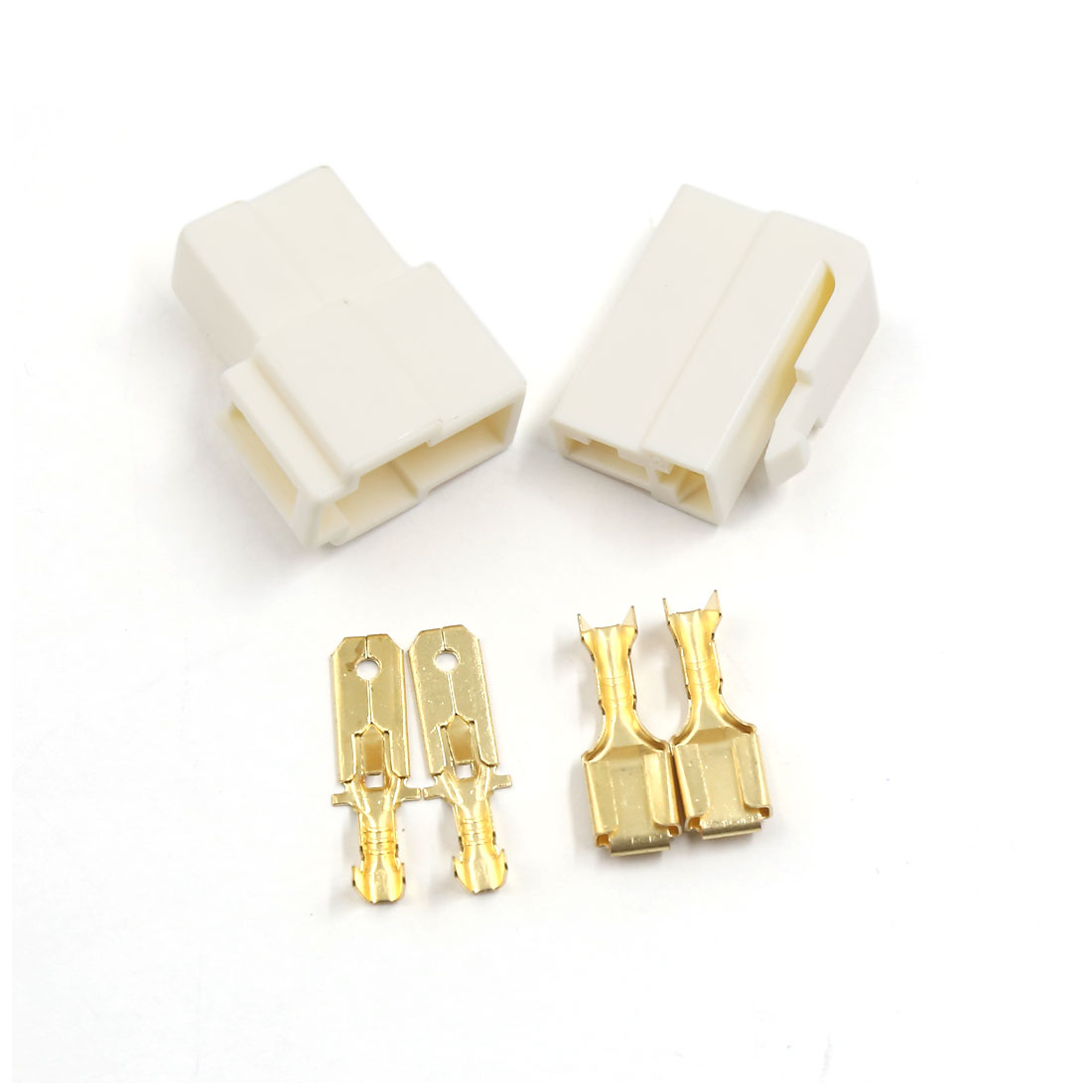 "2 Sets Nylon Latching Connector 2-way 6.3mm 1/4"" Male/Female 18-14AWG Wiring Plug"