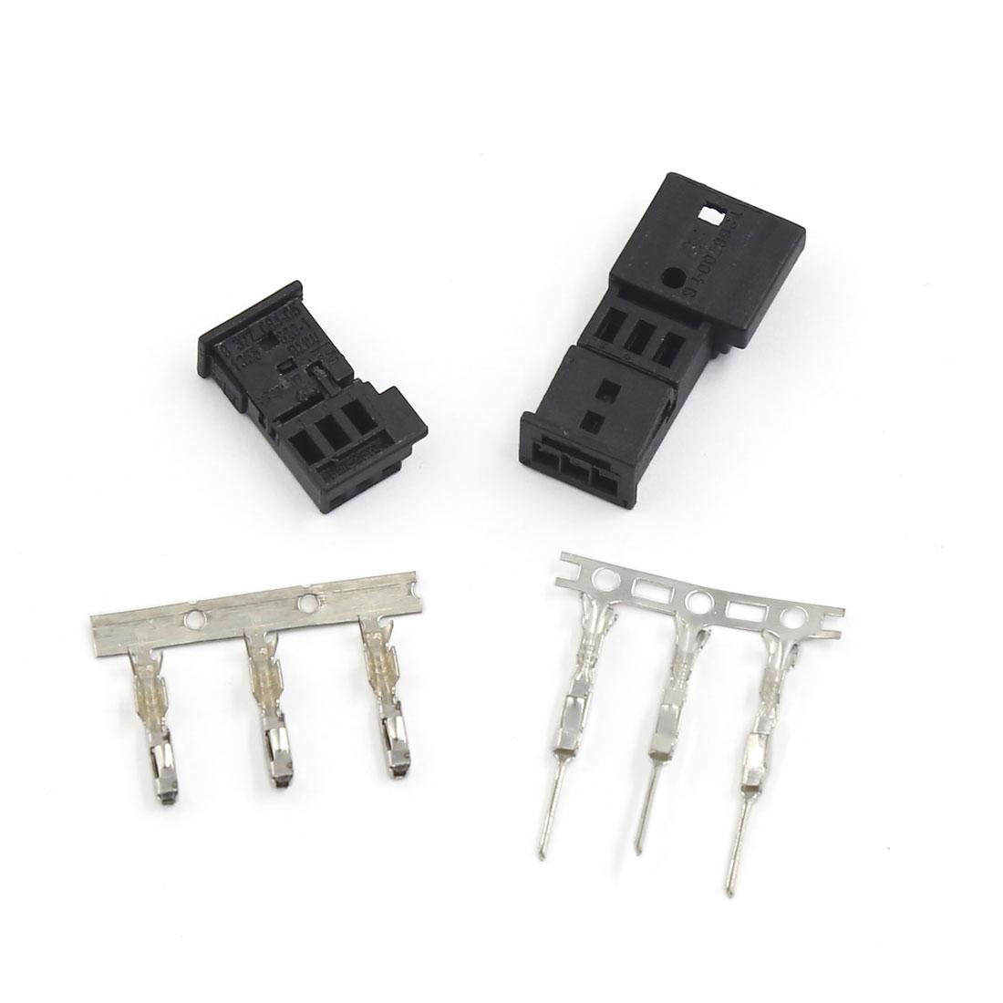 Auto Car Black Splitter Male Female Wire Quick Connector Kit