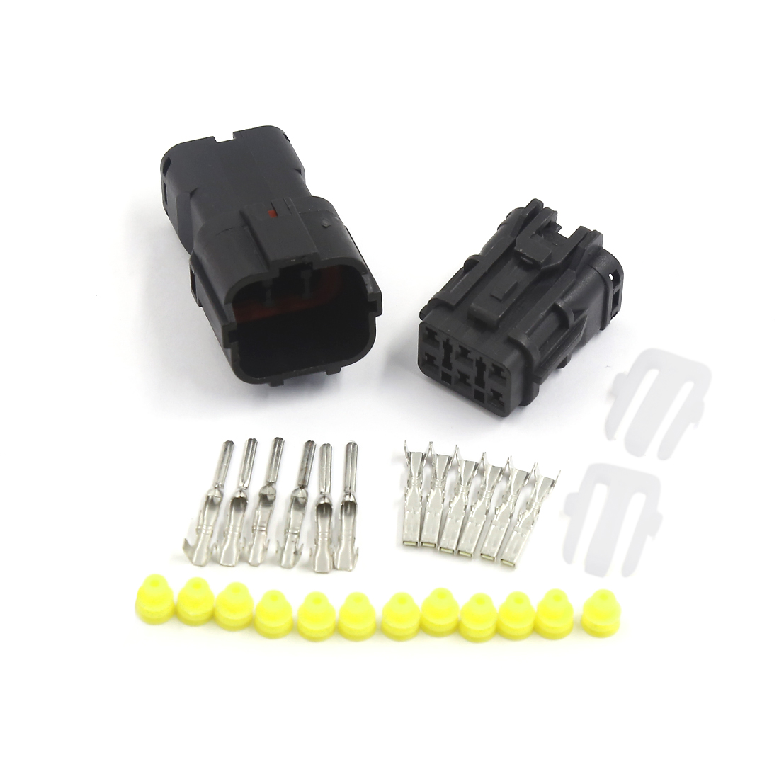1 Kit 6 Pin Way Waterproof 1.8mm Wire Connector Socket Car Sealed Electrical Set