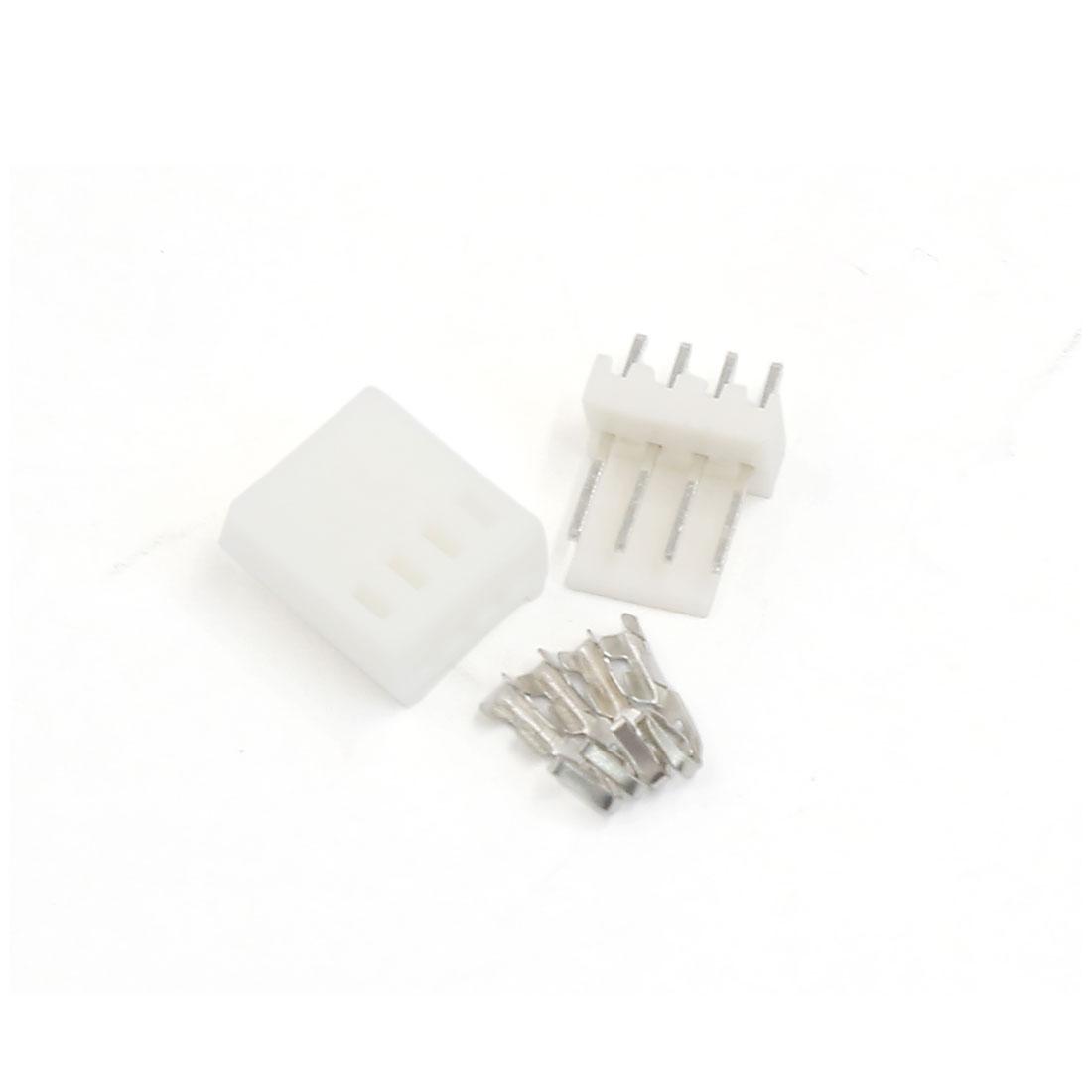 5 Sets KF2510 4 Pin 2.54mm Header Terminal Housing Connector Kit