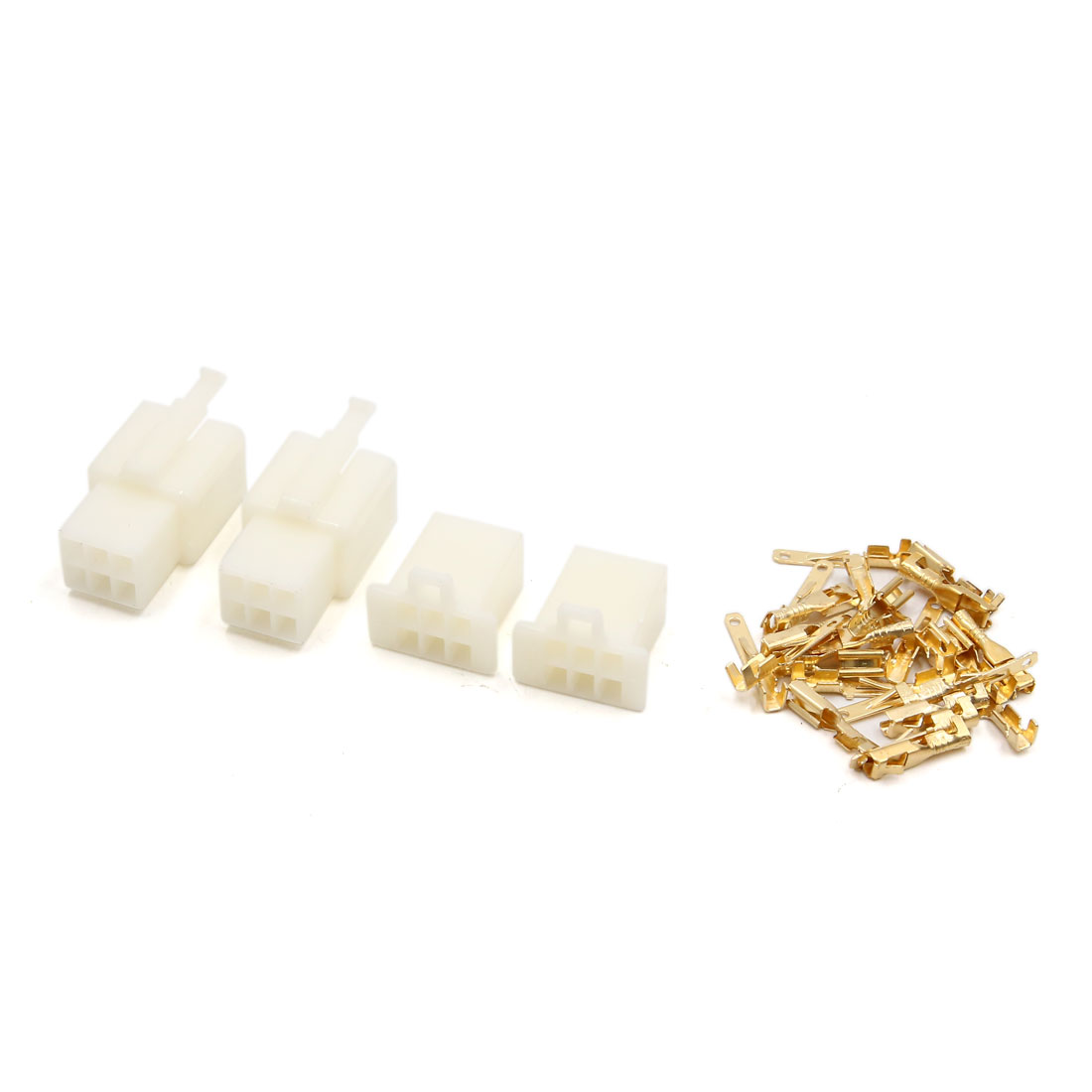 """2 Sets 6-pin 2.8mm 7/64"""" Male/Female 22-18AWG Nylon Latching Connector"""