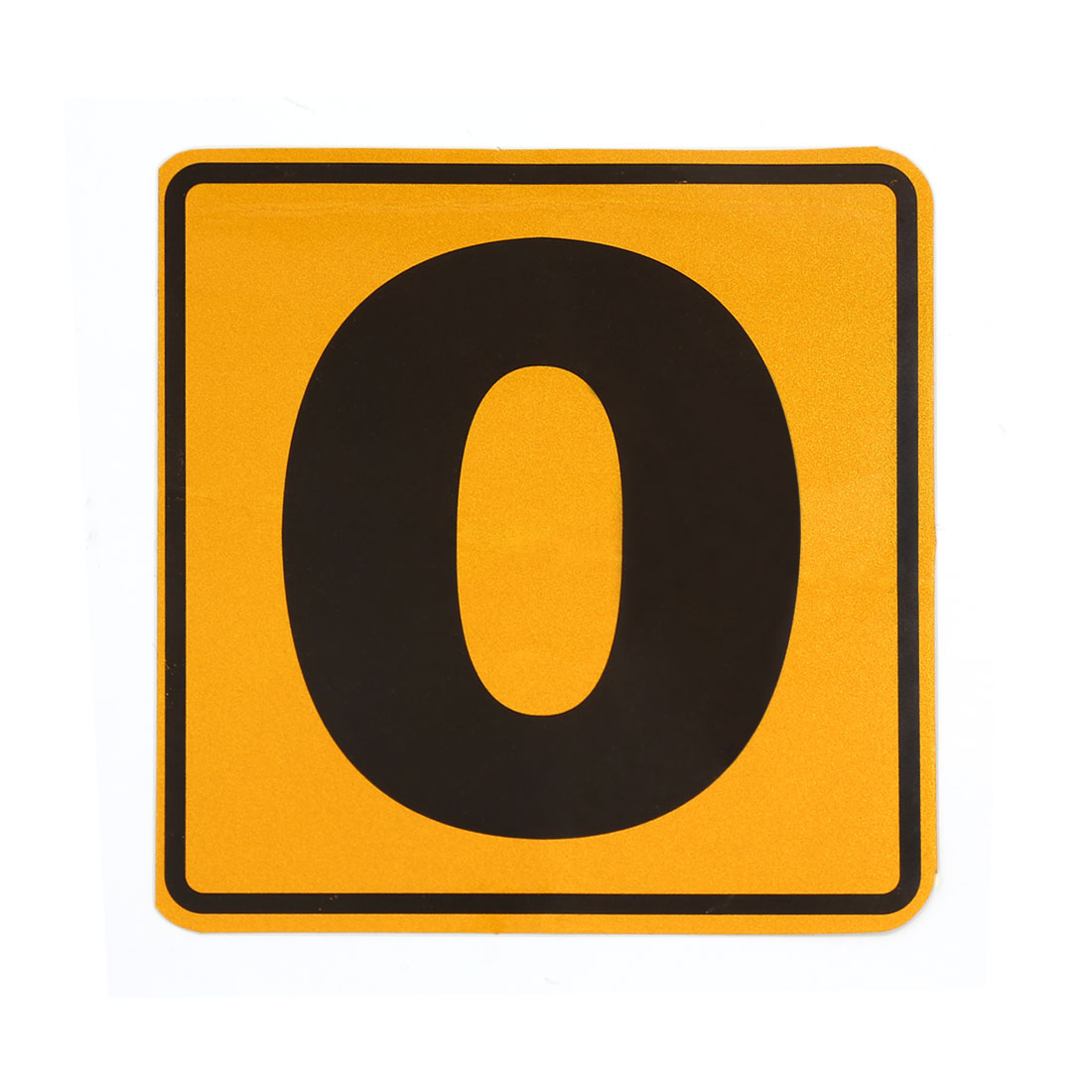 Number 0 Pattern Reflective Sticker Car Adhesive Decal Ornament Yellow Black