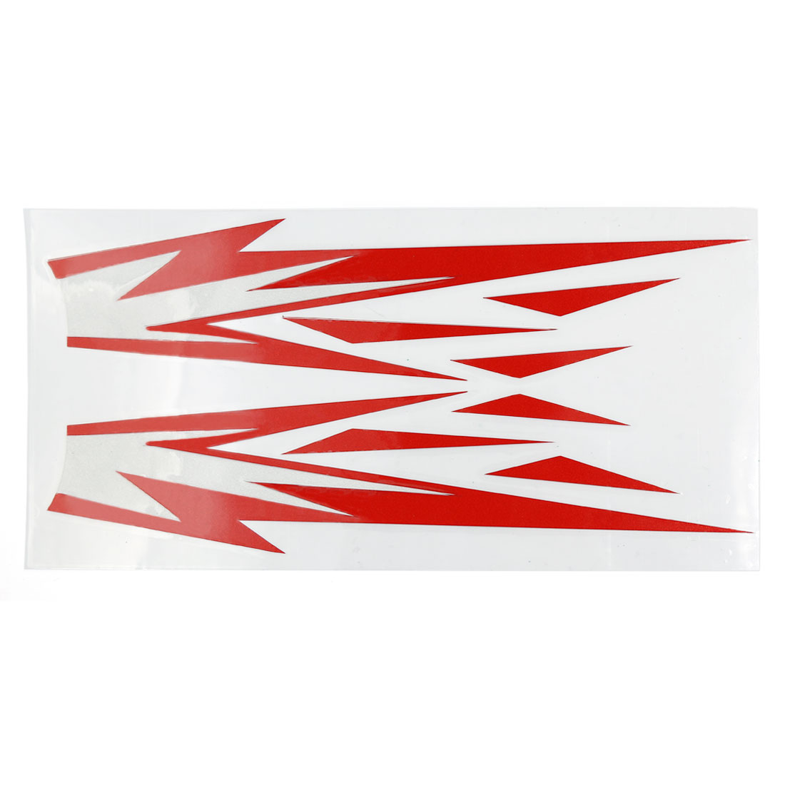 Car Exterior Decor Fire Flame Pattern Reflective Sticker Vinyl Decal Red White