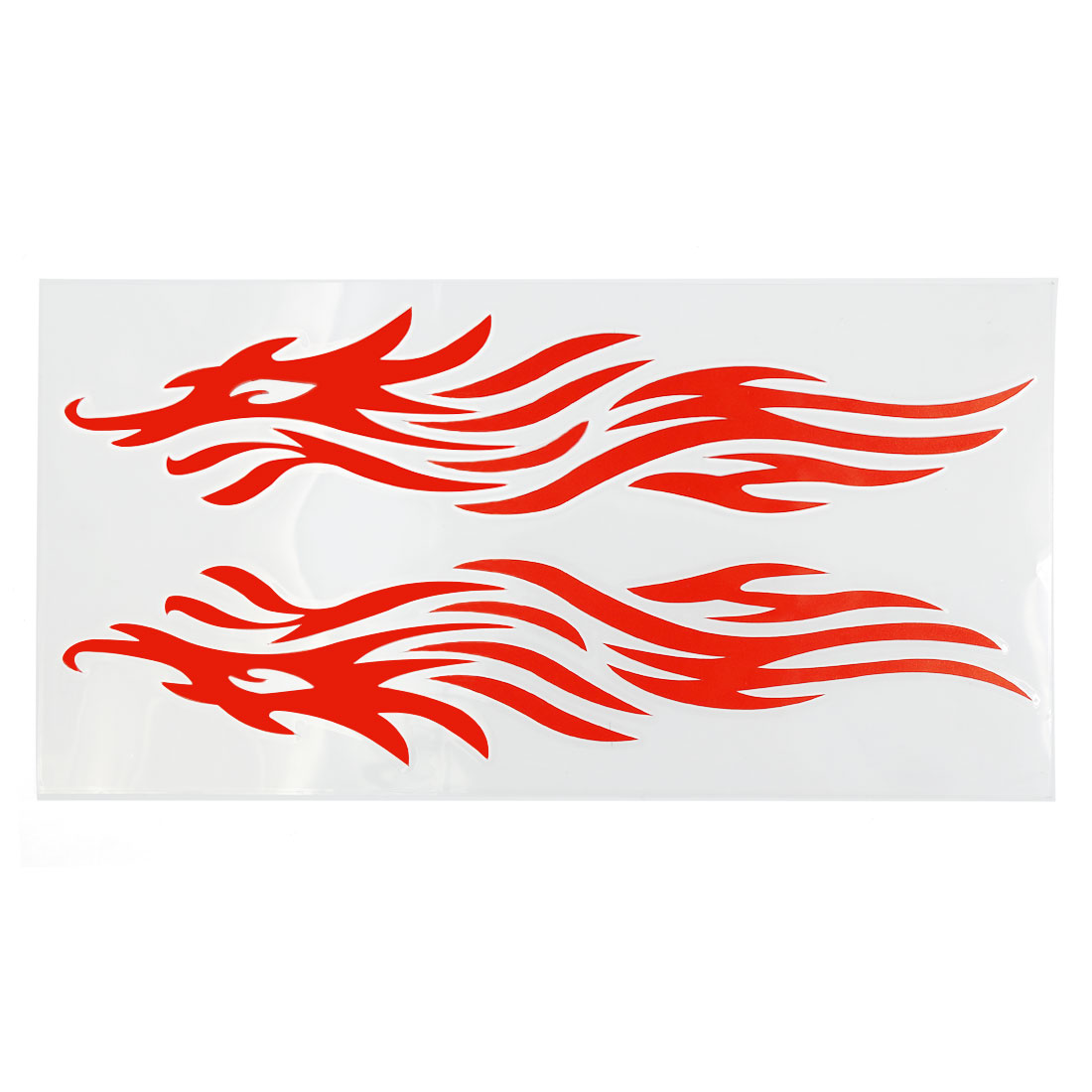 Red Fire Frame Pattern Reflective Motorcycle Auto Truck Car Glass Sticker Decal