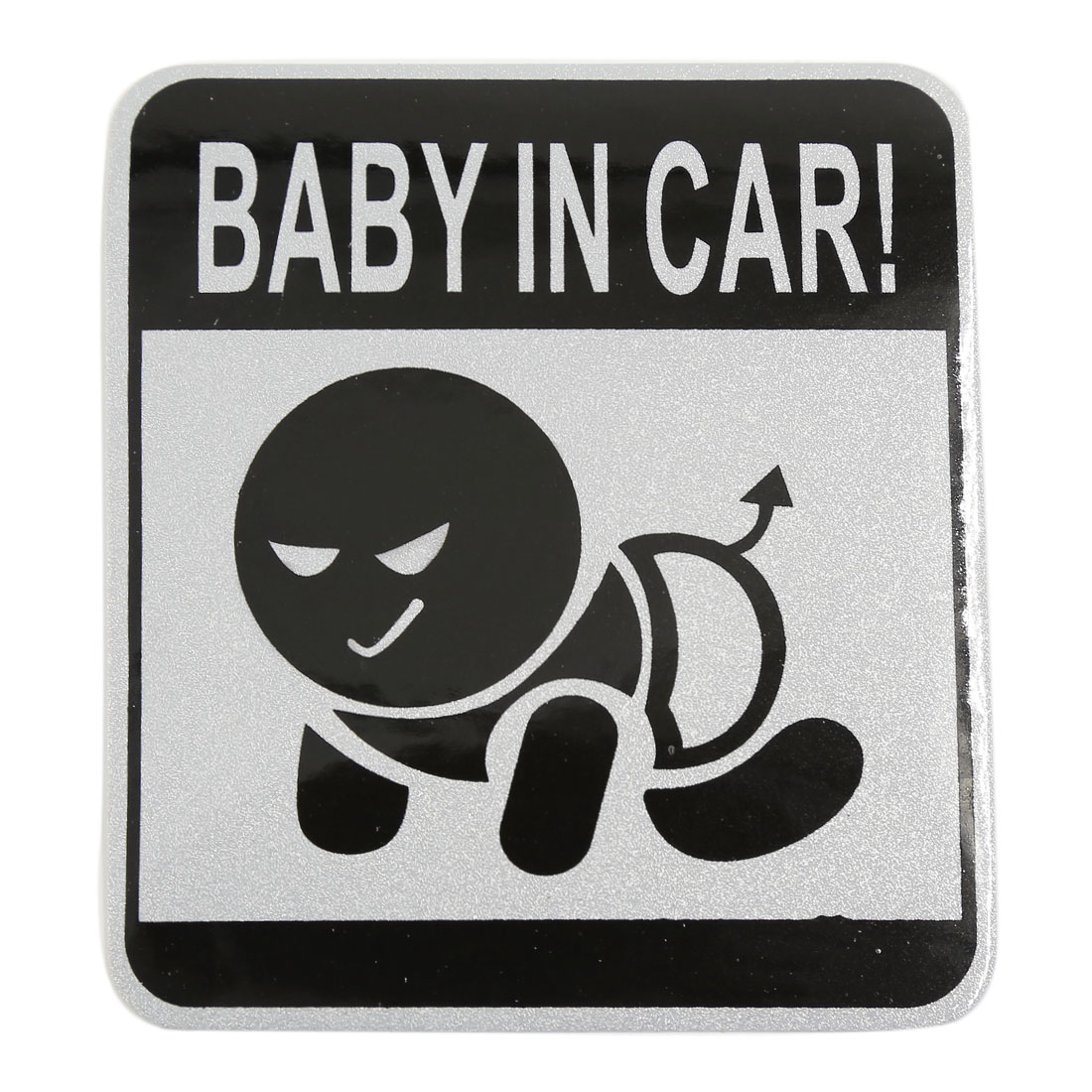 BABY IN CAR Printed Self-adhesive Auto Reflective Sticker Decal 11cm x 9.8cm