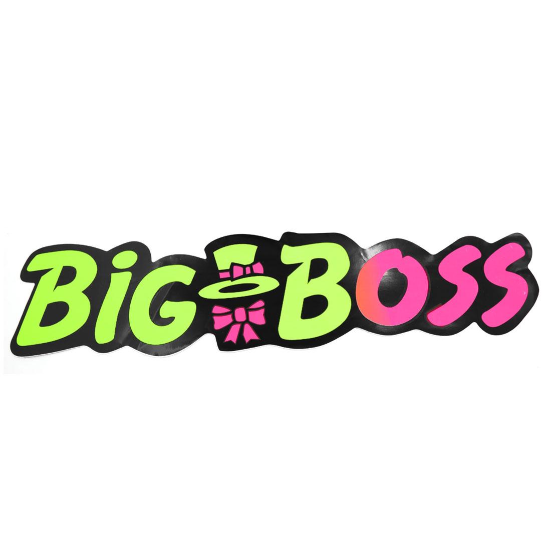 BIG BOSS Printed Plastic Sticker Decor Self Adhesive Exterior Adorn Decal 53cm x 12cm