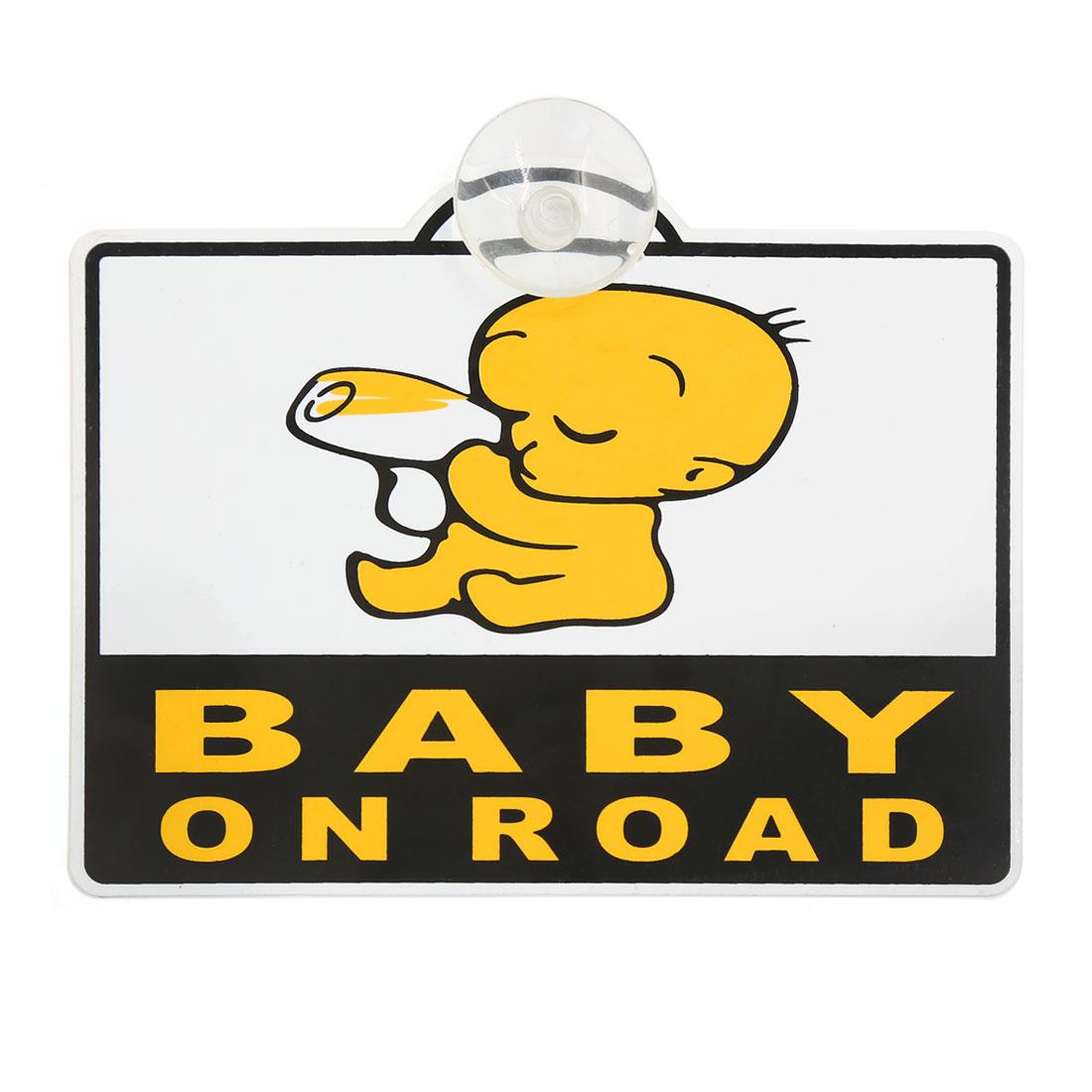 BABY ON BOARD Car SUV Body Windscreen Safety Sticker Decals w Sucker