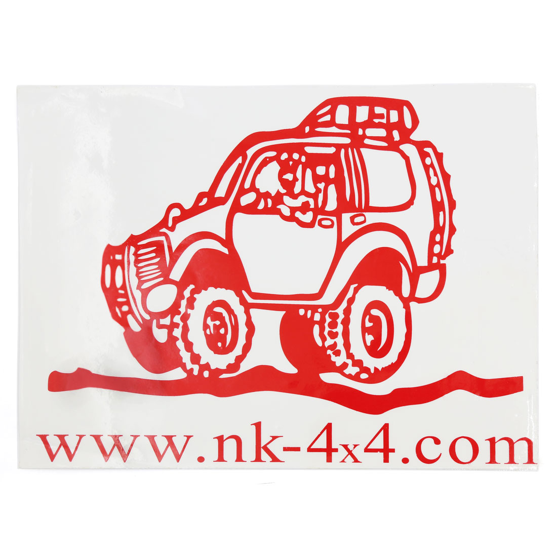 Red Car Vehicle Pattern Adhesive Decorative Sticker Graphic Decal 26cm x 19cm