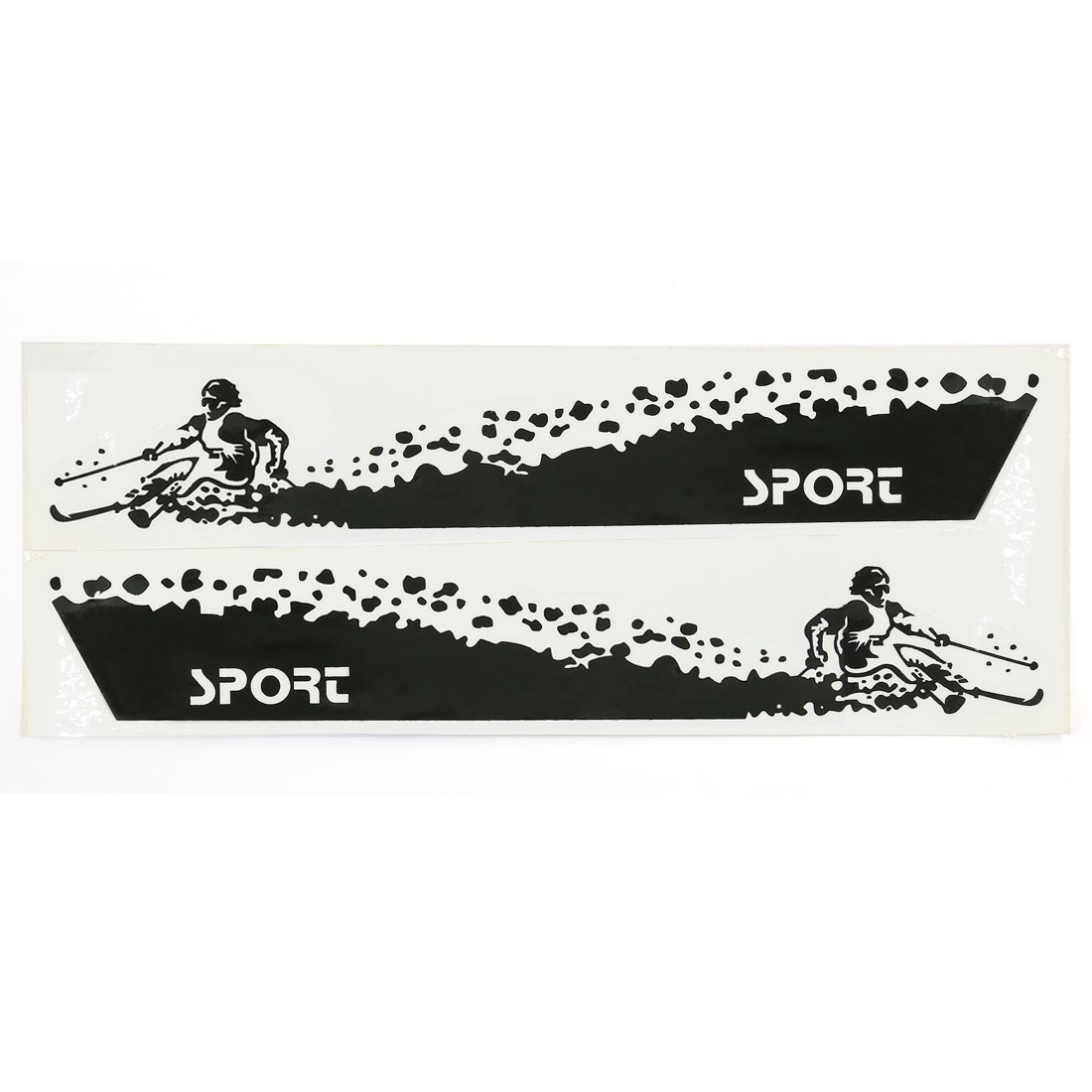 White Black Skiing Man Printed Car Body Sticker Decor Adhesive Graphic Decal