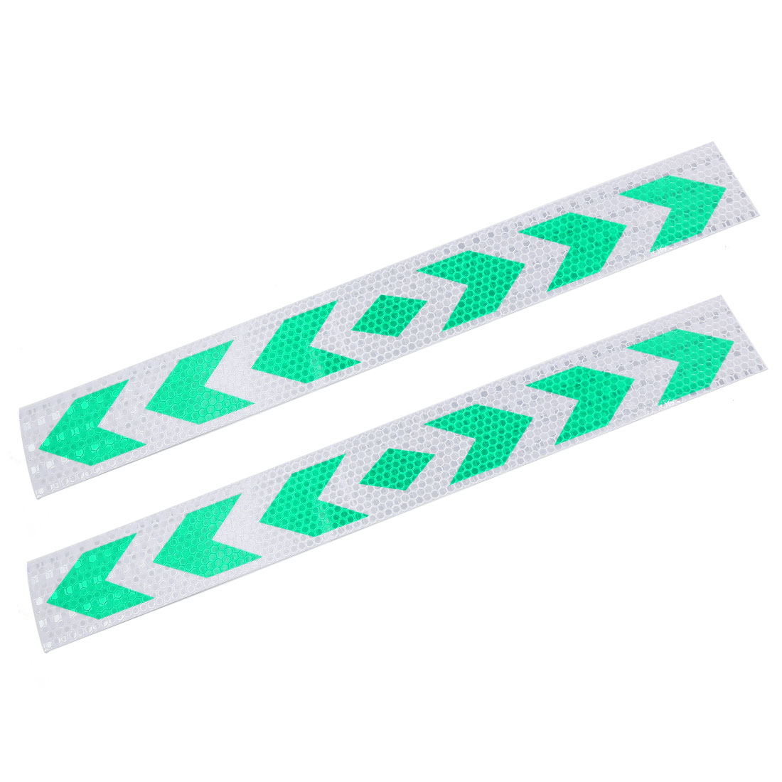 Green Arrows Print Reflective Conspicuity Decal Safety Warning Sticker 39cm 2pcs