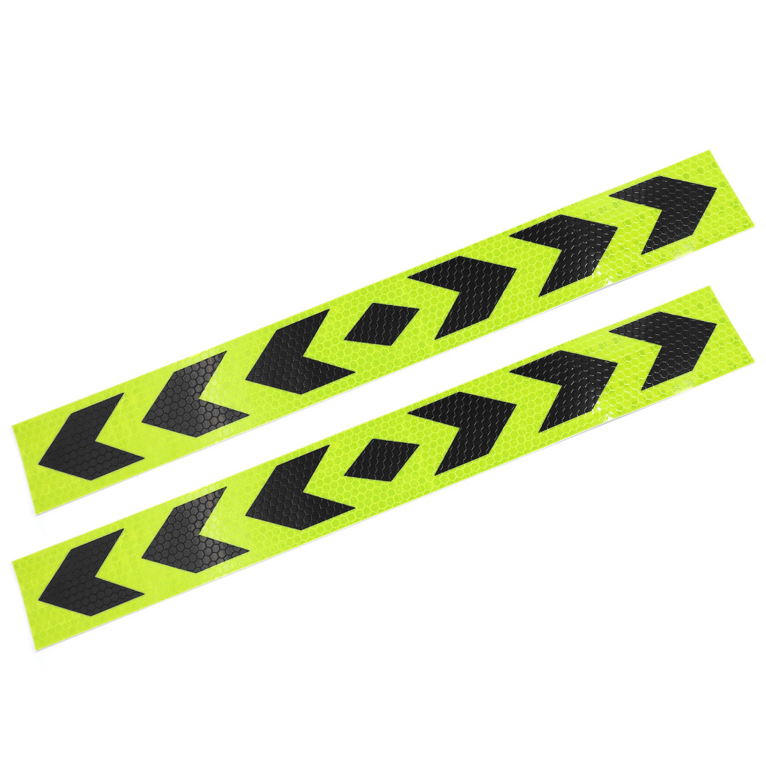 39cm Lenght Arrows Pattern Waring Sign Reflective Stickers 2 Pcs for Car SUV