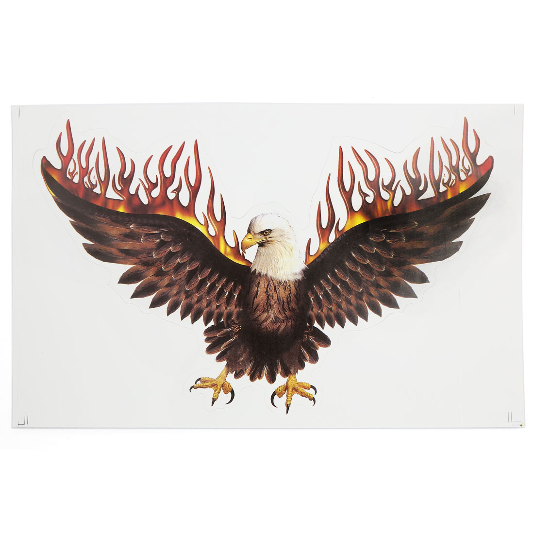 Flying Eagle Pattern Stick-on Graphic Decal Car Motorcycle Body Sticker Adorn