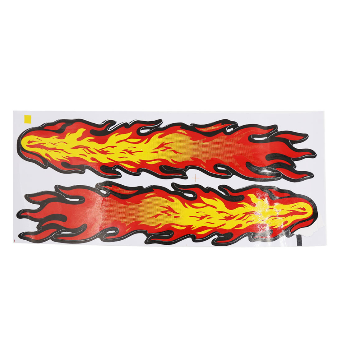 37cm x 7.5cm Fire Flame Pattern Car Adhesive Back Decorative Sticker Decal