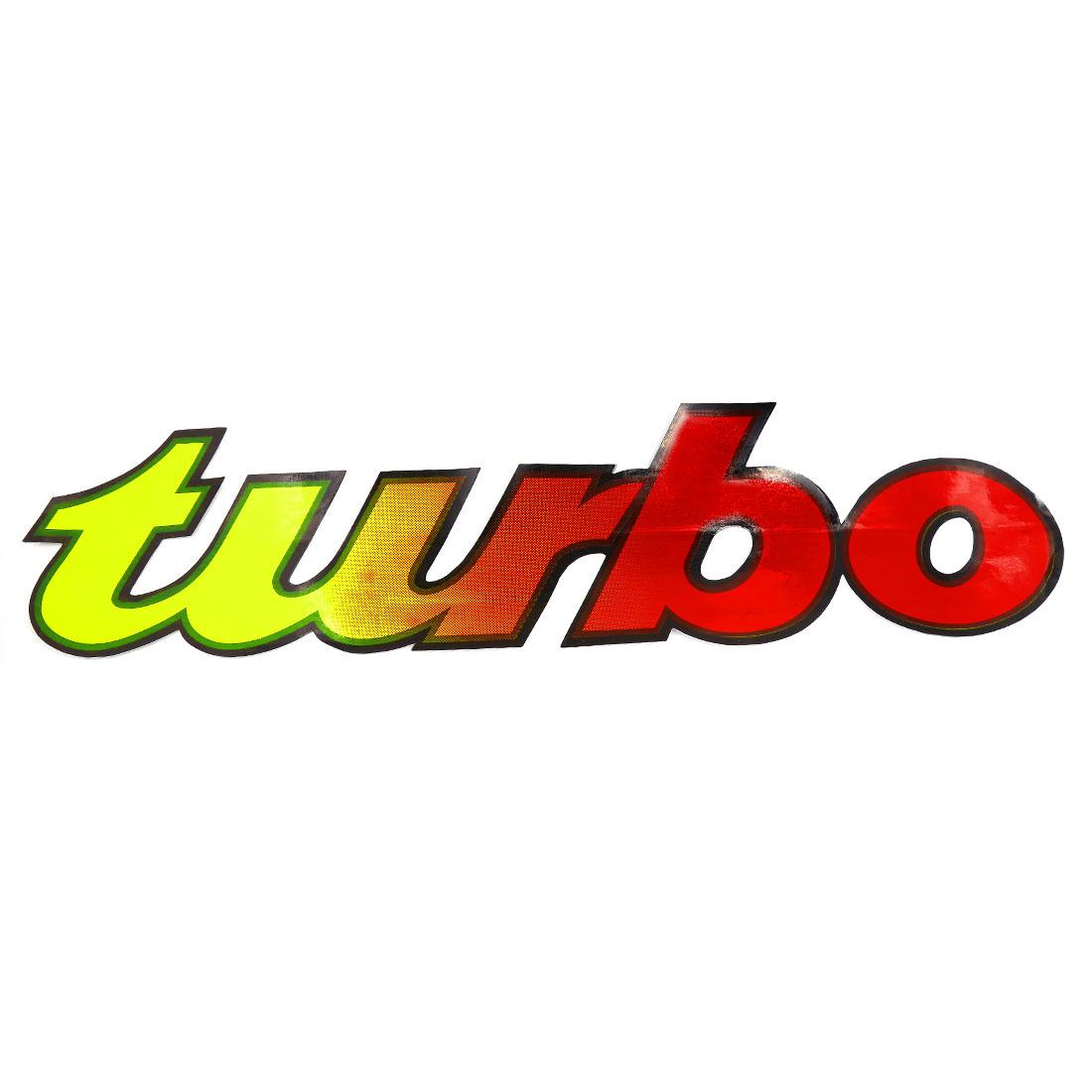58cmx14cm Car Exterior Self-adhesive Sticker TURBO Pattern Design Graphic Decal