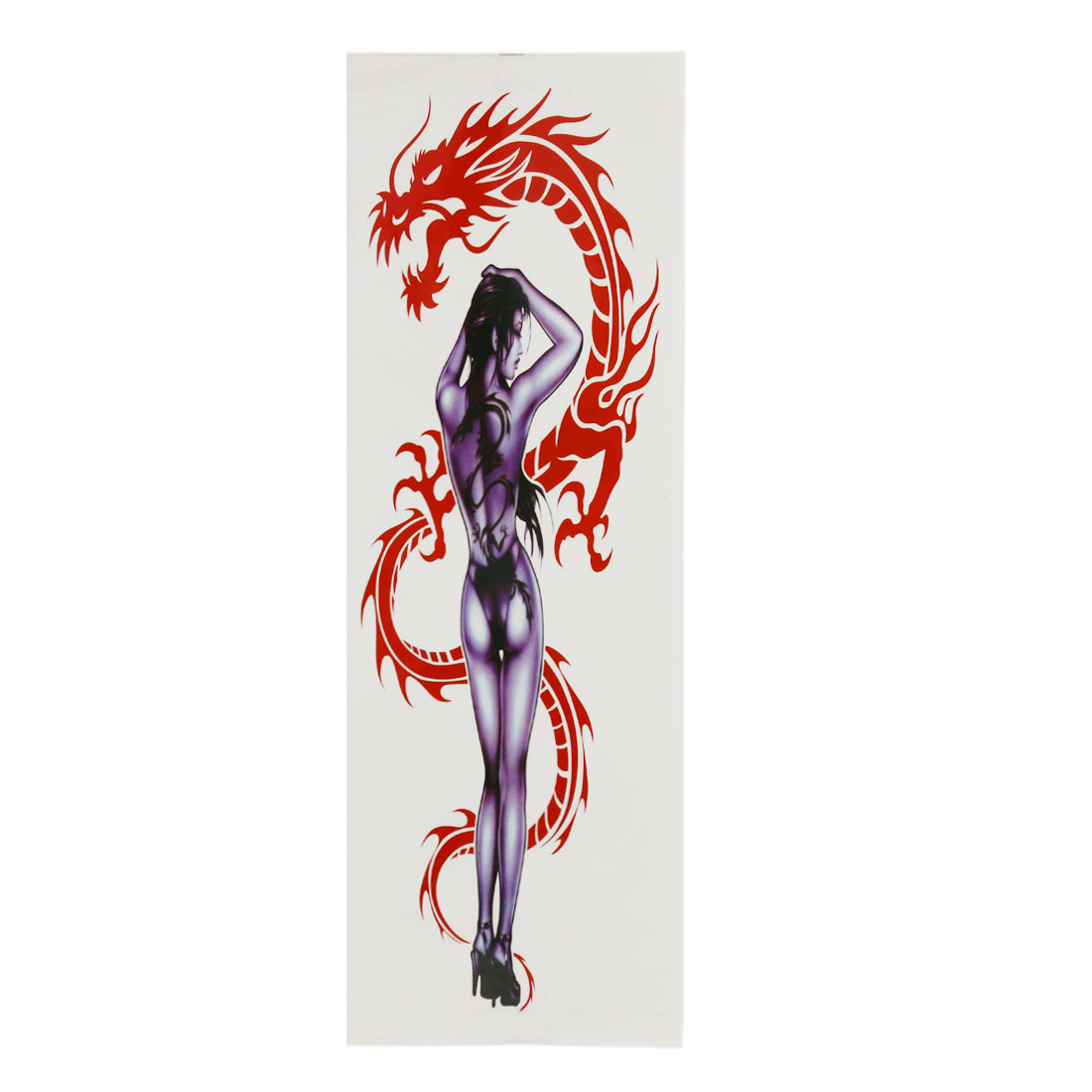 Sexy Lady Dragon Style Plastic Decorative Sticker Adhesive Graphic Decal for Car