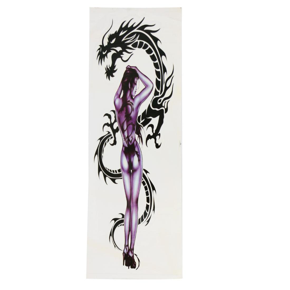 Car Body Self Adhesive Sticker Ornament Sexy Lady Dragon Print Graphic Decal
