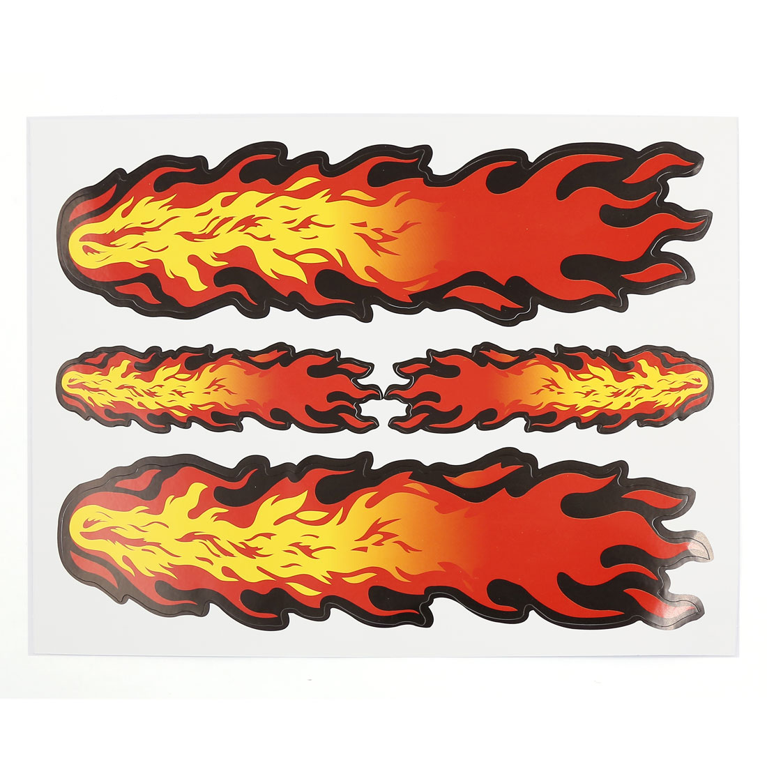 Three Fire Flame Print 2D Style Car Window Door Decal Sticker 20.5cm x 16cm