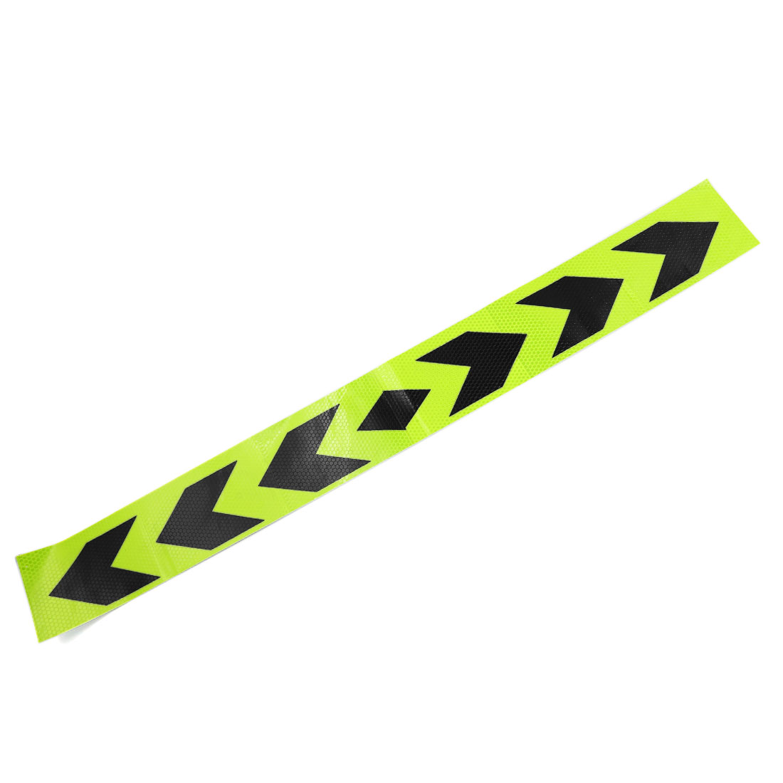 88.5cm x 9.5cm Adhesive Car Body Reflective Sticker Safety Warning Conspicuity Strip Shiny Green Black