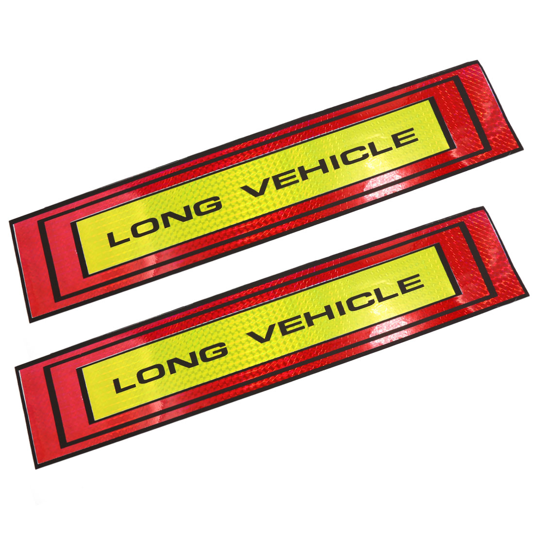 LONG VEHICLE Printed Car SUV Body Self Adhesive Reflective Safety Sticker 2PCS