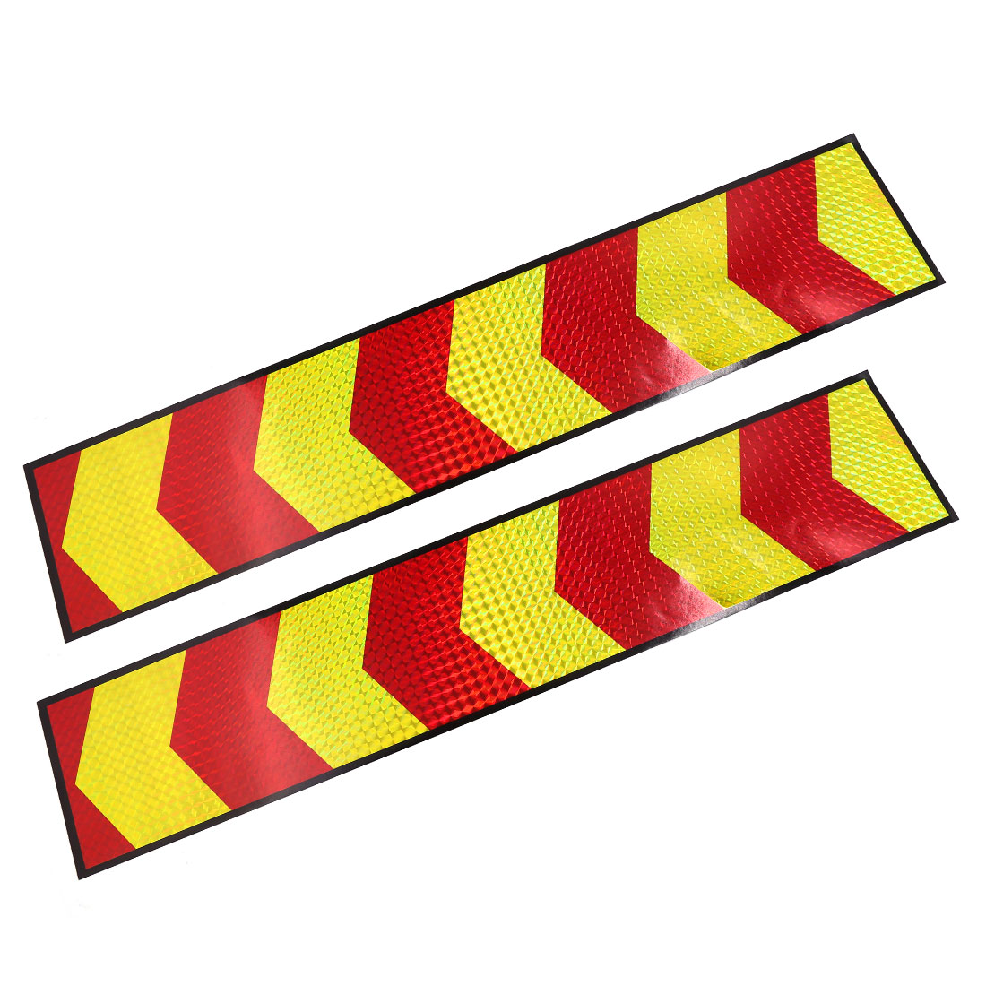 49cmx10cm Yellow Red Arrows Print Style Reflective Sticker Strip Decals for Car Auto