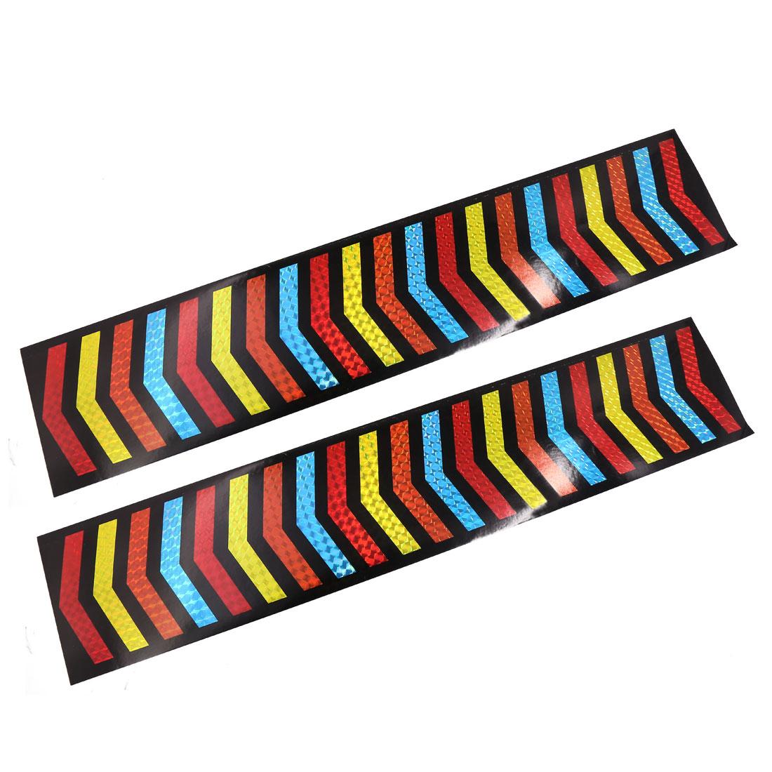 Automobile Car Body Safety Reflective Strips Tape Decal Sticker 49cmx10cm 2 Pcs