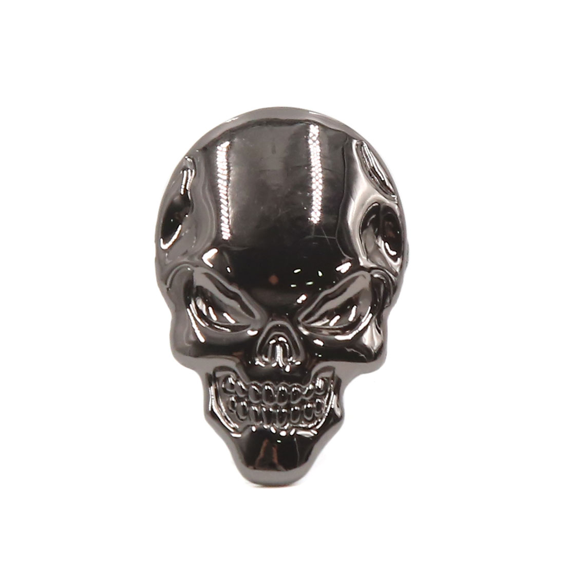 Car Motorcycle 3D Metal Emblem Badge Decal Skeleton Skull Bone Shaped Sticker
