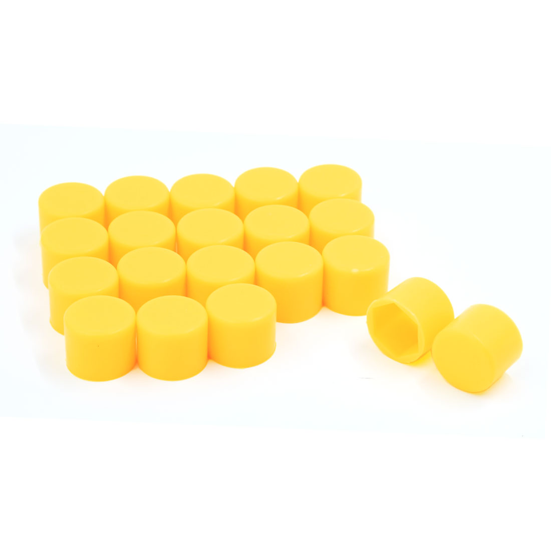 20PCS 19mm Hex Protective Cap Tyre Wheel Lug Nut Bolt Dust Covers Yellow for Car
