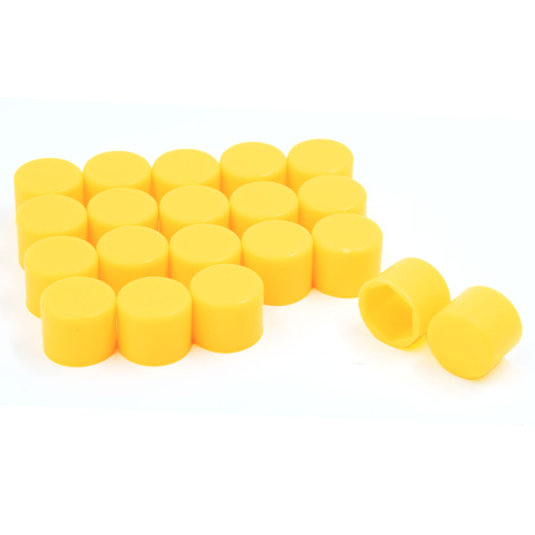 20 Pcs Universal Yellow Silicone Car Wheel Nut Bolt Cover Tyre Screw Cap 21mm