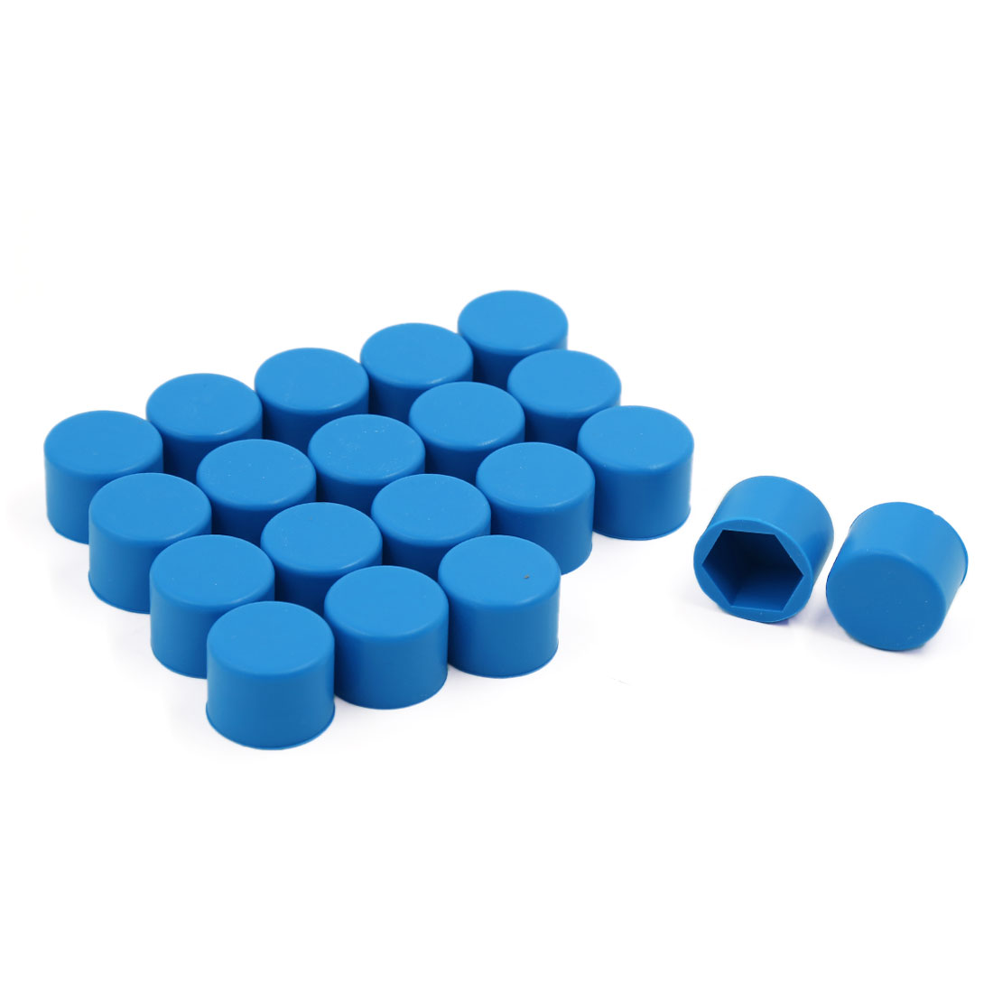 20 Pcs Blue Silicon Car Wheel Rim Nut Lug Dust Cover Hub Bolt Screw Cap 19mm
