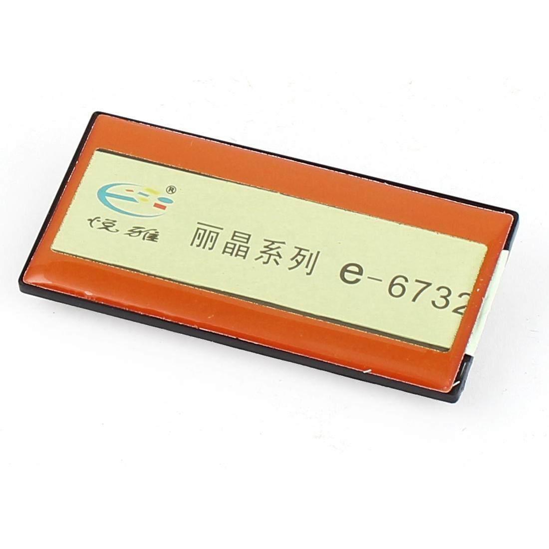 Orange Plastic Horizontal Business Name Tag Clip Safetypin Holder