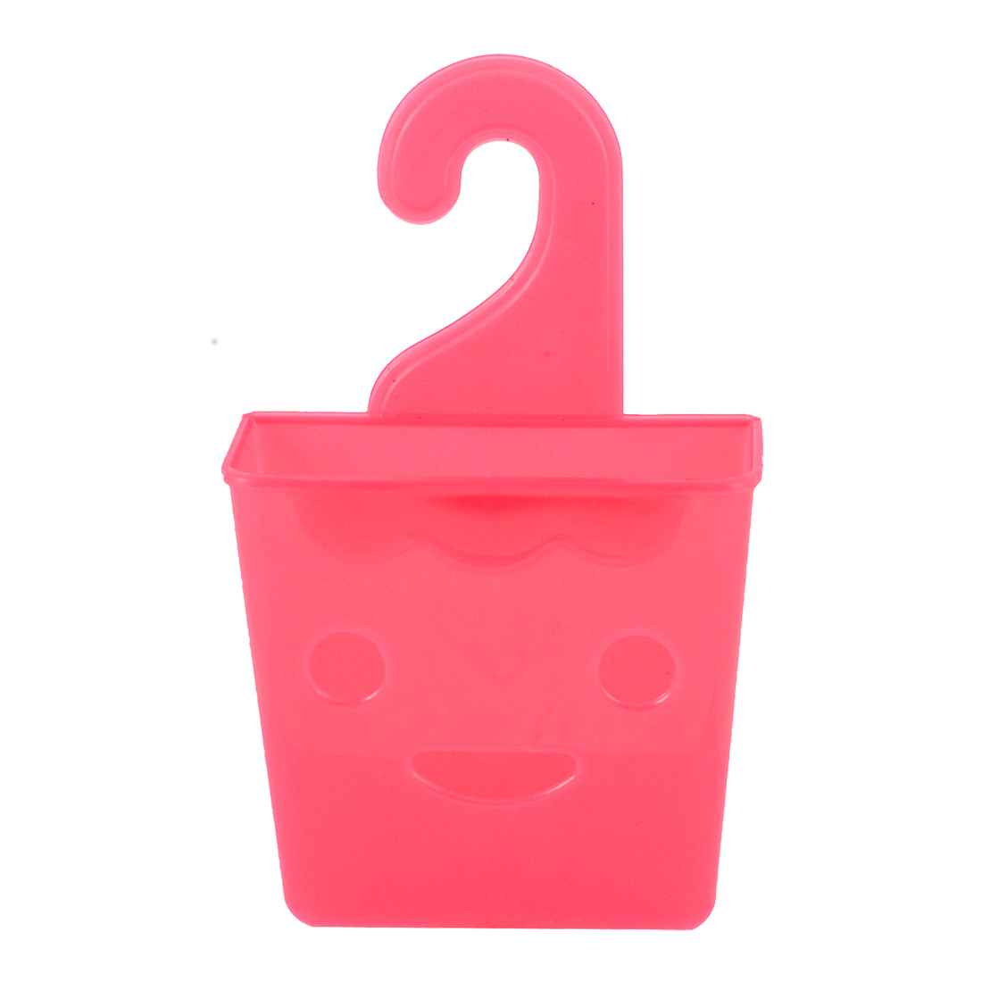 Bathroom Closet Wall Plastic Hanging Storage Case Basket Holder Fuchsia