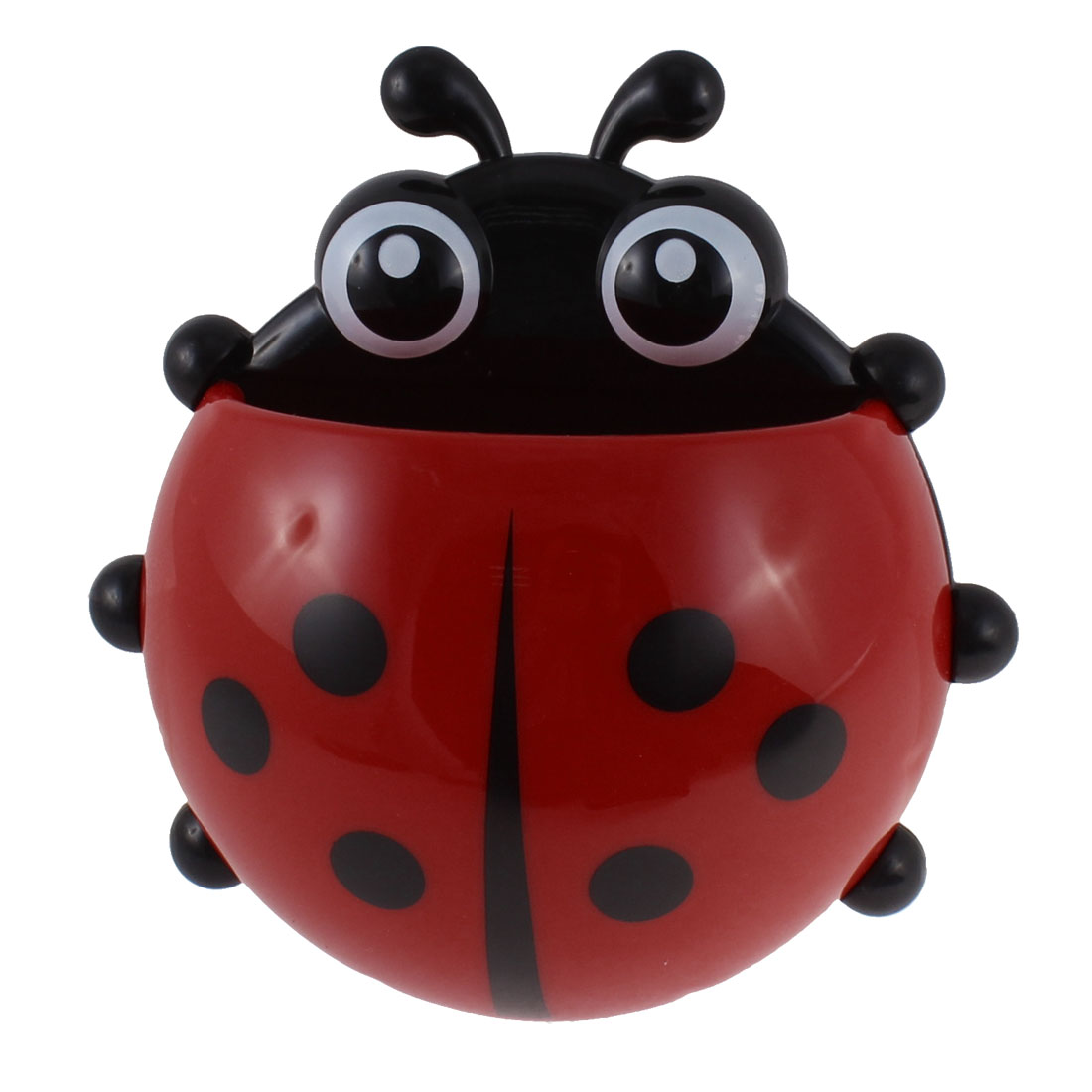 Bathroom Wall Suction Stand Ladybird Design Toothbrush Rack Holder Red