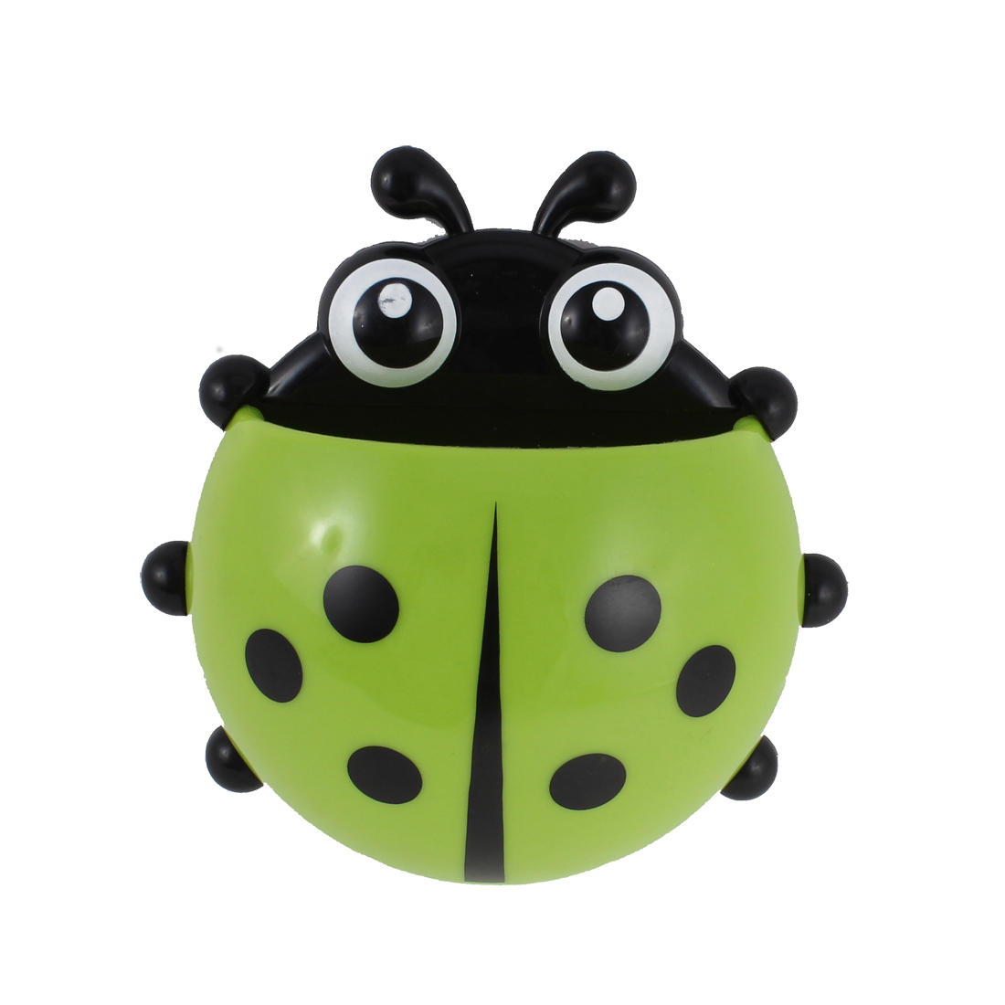 Wall Suction Stand Ladybird Design Toothbrush Organizer Holder Green