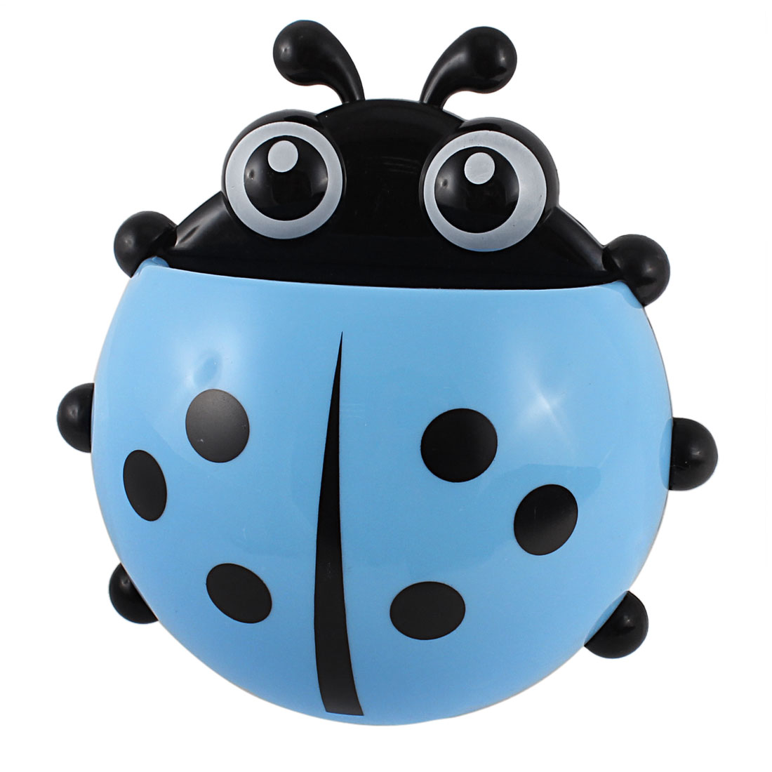 Bathroom Suction Cup Ladybird Design Toothpaste Toothbrush Rack Holder Blue