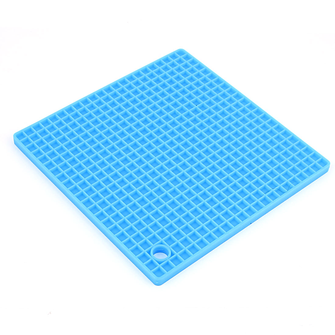 Silicone Square Shaped Antislip Heat Resistant Pad Mat Light Blue