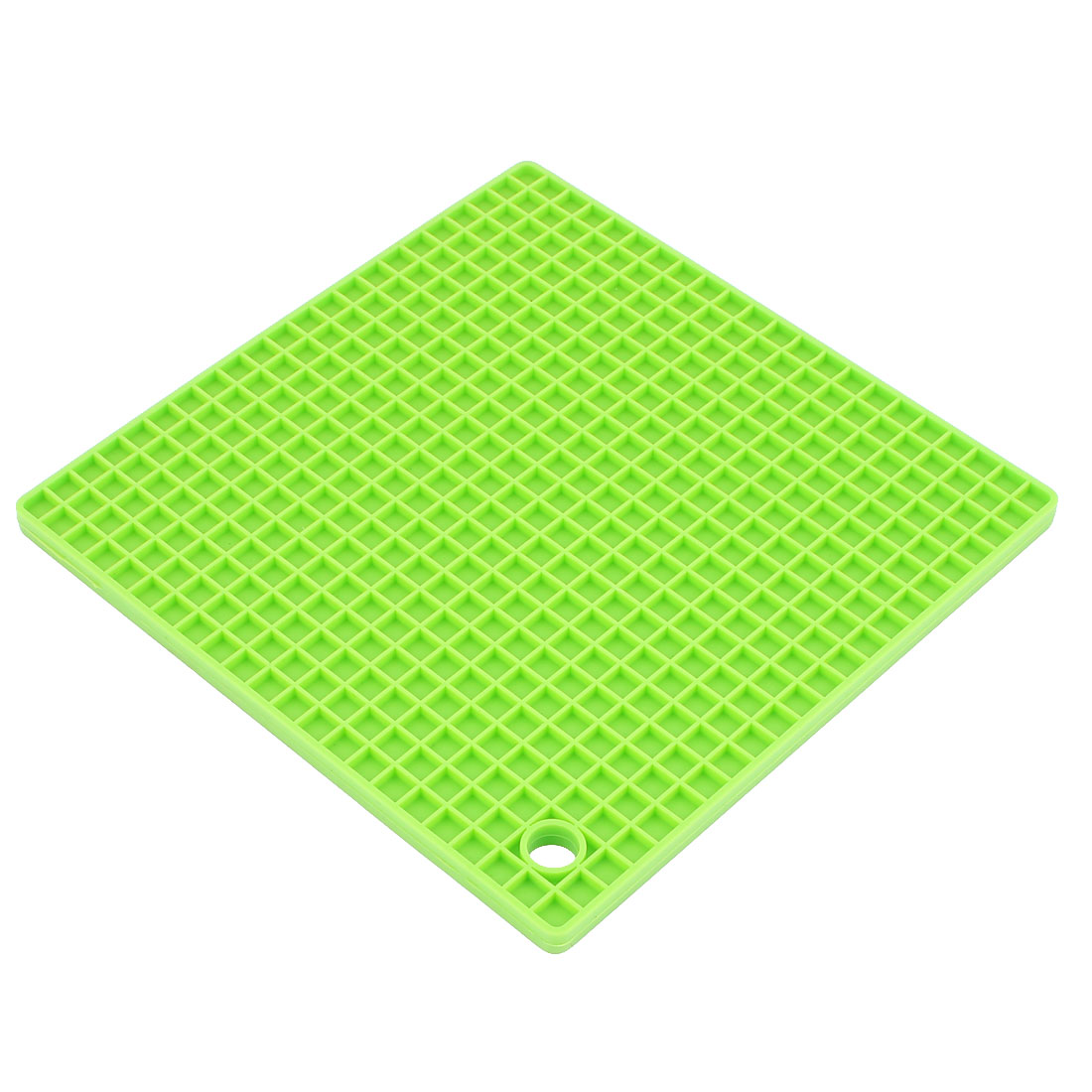Kitchen Silicone Square Shaped Antislip Heat Resistant Mat Green