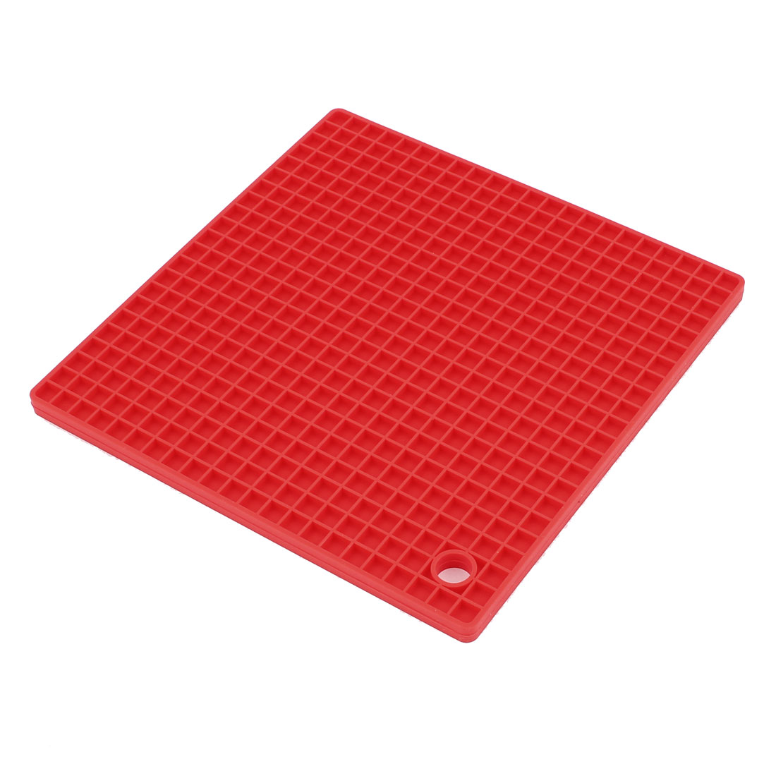 Square Shaped Antislip Silicone Heat Resistant Mat Red